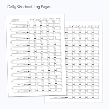 Daily Exercise Log A5 Gym Diary Weight Training Diary Log Book Daily Workout Diary