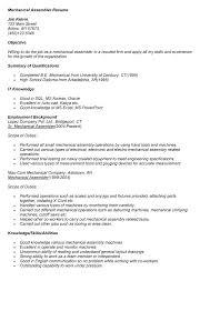 Medical Assembly Job Description For Resume