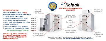 kolpak p7 066 ct walk in cooler 6 x 6 at ckitchen com new polarpak performer advantage installation
