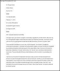 Graduate School Cover Letter Sample Brilliant Ideas Of Cover Letter