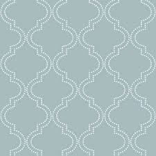 slate blue quatrefoil l and stick wallpaper