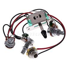 electric guitar wiring harness kit 3 way toggle switch 1 volume 1 usd 8 98