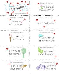 Last Minute Valentine Free Coupon Book Printable Seasonal