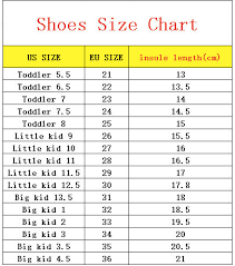 Kid Shoes Size Chart Us Kids
