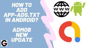 admob app ads txt setup android