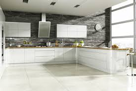kitchen white wooden kitchen cabinet connected by l white wooden counter on white ceramic floor