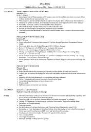 Team Leader Resume 8 Manufacturing Sample Infrastru