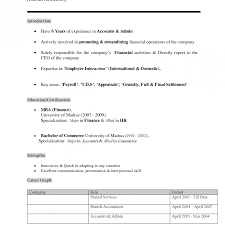 Resume Templates Best Samples For Mba Finance Freshers Format