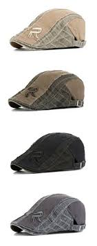Men <b>Women</b> Cotton <b>Vintage</b> Grid <b>Beret Cap</b> Newsboy Adjustable ...