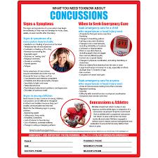 Velcro Memo Board Concussion Symptoms Memo Board 100100x100 Laminated Magnet or 60