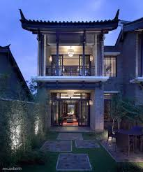 Asian House Design Chinese Style Two Storey With Large Backyard