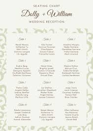 Elegant Pattern Wedding Seating Chart Templates By Canva