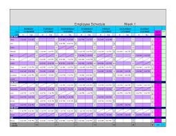 Unique Excel Employee Schedule Templates Xlstemplate