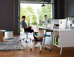 office furniture photos. Bivi Modular Desk System In White Finish With 4 Desks, Floating Side Storage, Privacy Office Furniture Photos