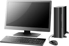 フリーイラスト 黒色のデスクトップパソコン パブリックドメインq