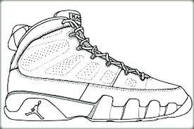 Jordan Shoe Coloring Book Online And For Produce Cool Jordan Shoes