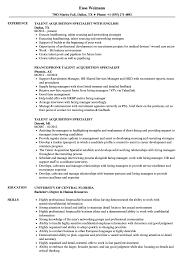 Talent Acquisition Resume Talent Acquisition Specialist Resume Samples Velvet Jobs 1