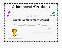 Achievement Awards Templates Award Certificates Template Free Music Achievement Award