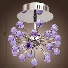 image of purple ceiling light fixture size