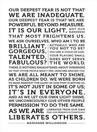 Marianne Williamson Love Quotes Our Deepest Fear Marianne williamson Typography prints and Products 93