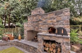 outdoor fireplace with pizza oven spaces traditional chaise construction outdoor fireplace pizza oven kit with