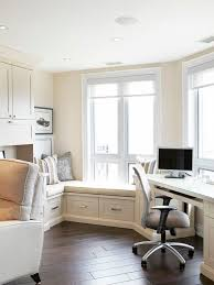 modern home office. Family Home Office With Wondow Seat Modern