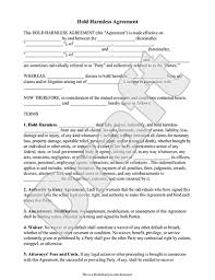 sample hold harmless agreement form template how to write a termination letter to an employer
