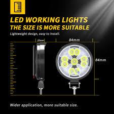 48W Đèn LED Làm Đèn Mini Tròn LED Siêu Sáng Ánh Sáng Ban Ngày 23LED Trắng  Ánh Sáng Vàng Cho Ô Tô Xe Máy Xe Tải xe Accessorie|Thanh Đèn/Đèn Làm Việc
