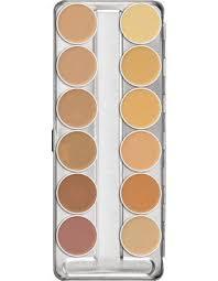 kryolan dermacolor camouflage creme makeup palette 75004 00 a 12 colors