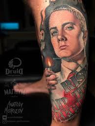 Eminem Realism Portrait Tattoo Tattoo