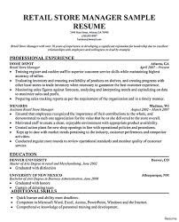 Sample Resume For Retail Manager Professional Resume For John Retail Manager Resumes Template 2