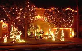 outside christmas lighting ideas. Christmas Garden Decoration Ideas Inspiring Homes Using Outdoor Lighting Idea Outside