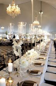 elegant black and white wedding picture of elegant black and white wedding table settings