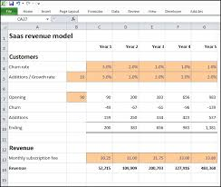 forecast model in excel saas revenue model plan projections