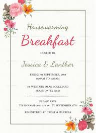 Housewarming Card Templates Housewarming Breakfast Party Invitation Template House