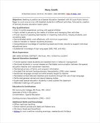 Special Education Assistant Resume Fascinating 48 Education Resume Templates PDF DOC Free Premium Templates