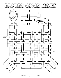 Easter Chick Maze Free Coloring Pages For Kids Printable Colouring