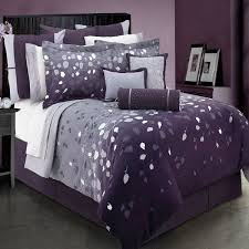 quilt sets comfrter big bedding purple quilt set king size with gray white combine leafs