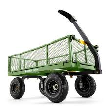 gorilla carts 4 cu ft steel utility