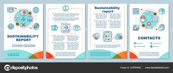 Sustainable Print Design Sustainability Report Brochure Template Layout Flyer Booklet