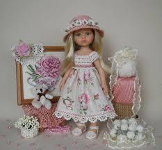 Наряды для кукол и вышивка крестиком