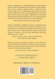 Amazon Com Subject To Negotiation Reading Feminist Criticism And