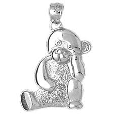 sterling silver 925 teddy bear pendant sterling silver pendants at jewelsobsession com