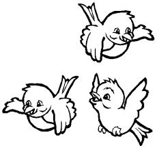 Tre Piccoli Uccellini Disegno Da Colorare Gratis Disegni Da