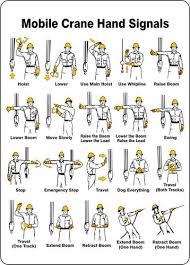 Safety Series Hand Signals For Cranes News Bigge Crane