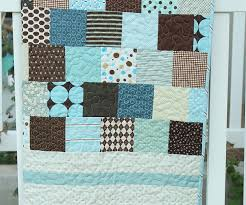 Brown and Blue Baby Quilt - Diary of a Quilter - a quilt blog & Brown and Blue Baby Quilt Adamdwight.com