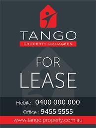 Tango Graphic Design Modern Elegant Real Estate Signage Design For Tango