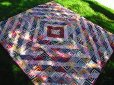 Old Antique Hand Quilted Log Cabin Quilt, approx 150 years old 68 ... & Old Antique Hand Quilted Log Cabin Quilt, approx 150 years old 68