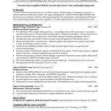 Medical Assistant Resume Summary Best Of Medical Administrative Delectable Medical Assistant Summary For Resume