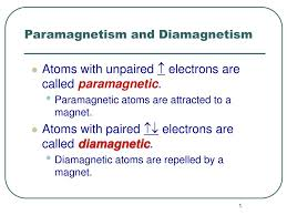 Ppt Paramagnetism And Diamagnetism Powerpoint Presentation Id